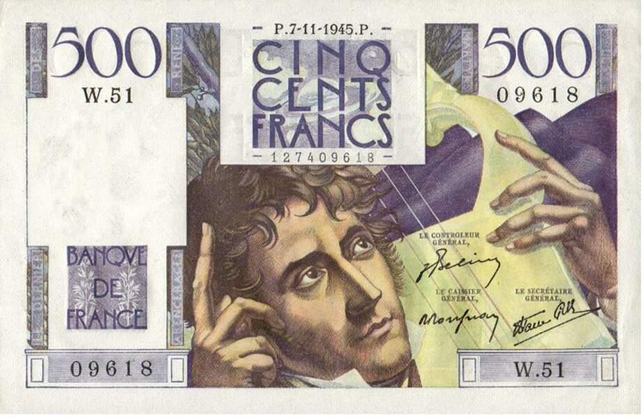 Les 500 francs pour Chateaubriand en 1945