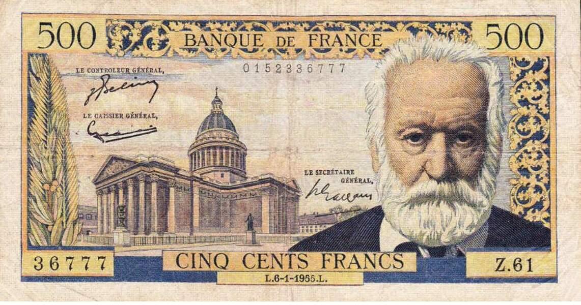 Les 500 francs pour Hugo en 1953