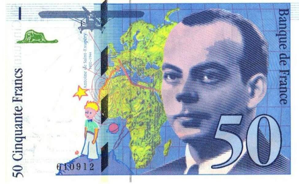 Les 50 francs pour St Exupery en 1992