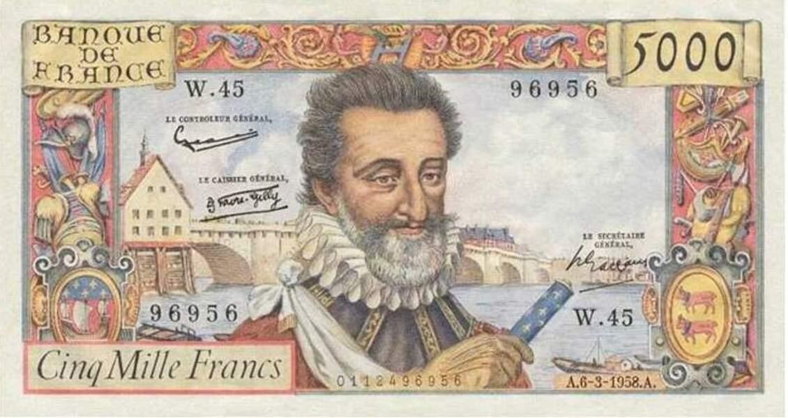 Les 5000 francs pour Henri IV en 1957