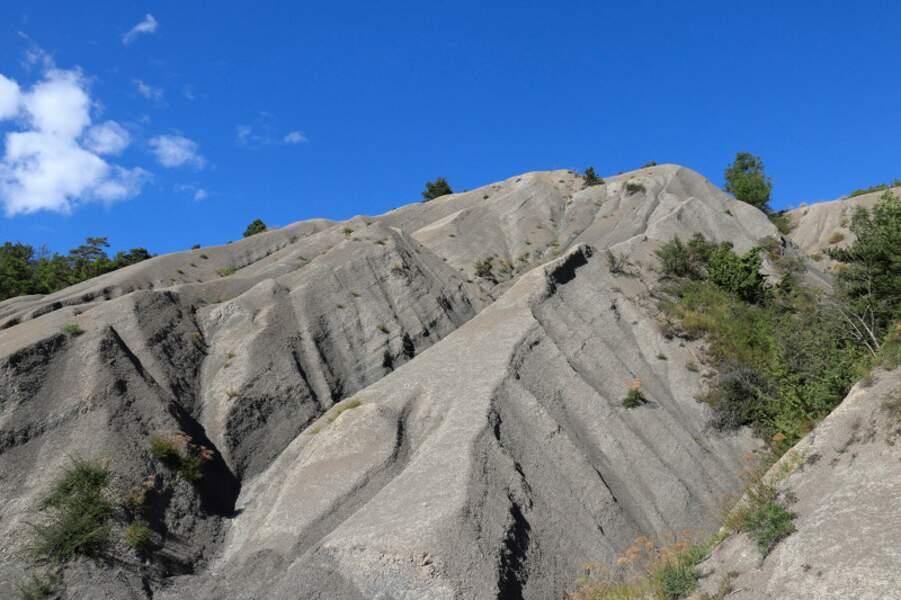 Les ravines des terres noires près de Mens, Isère