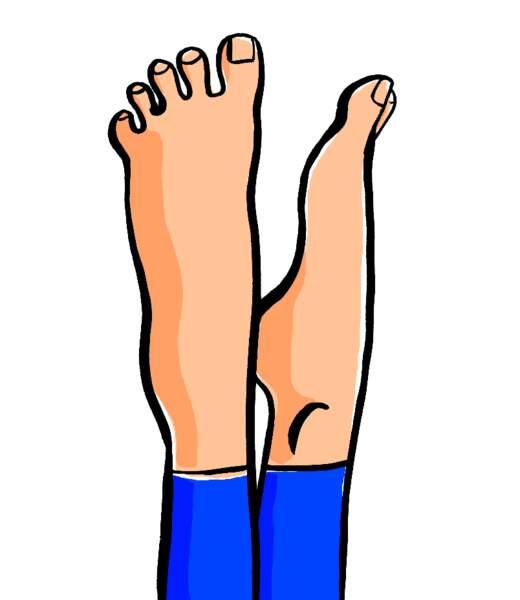 Position Pilates des pieds