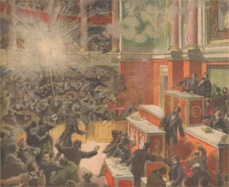 9 décembre 1893 : l'anarchiste Vaillant lance une bombe au parlement
