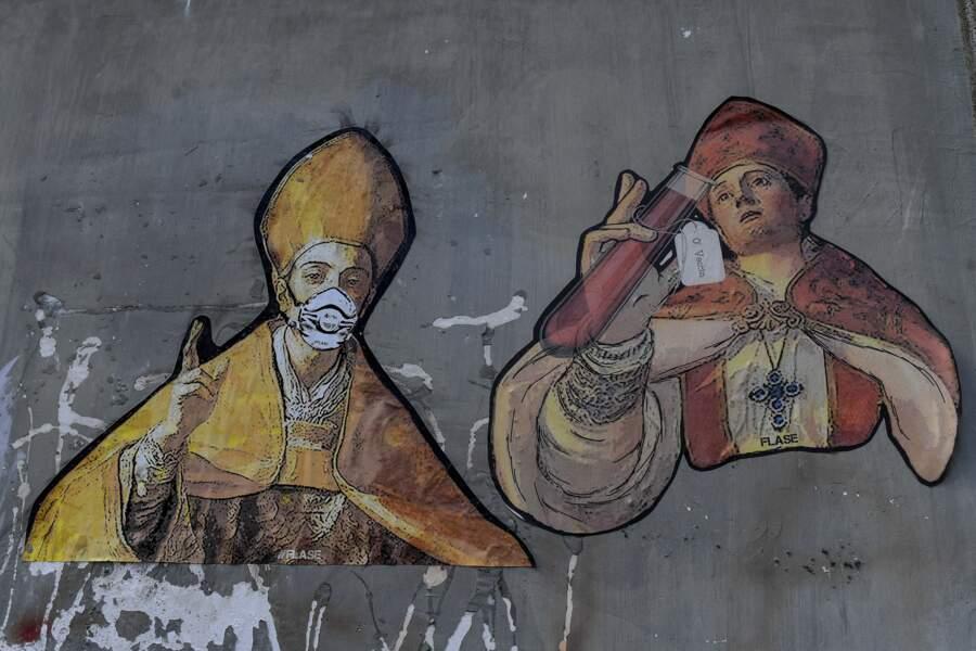 Saint Gennaro, patron de Naples, montre l'exemple aux citoyens