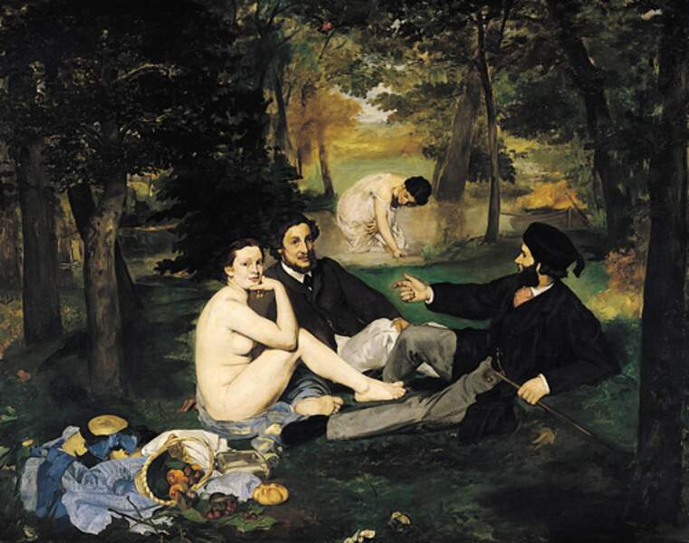 """""""Le déjeuner sur l'herbe"""" de Manet est lubrique."""