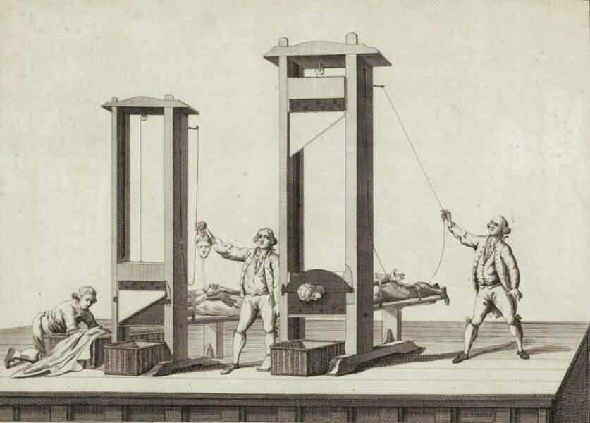 7/ La guillotine est inventée sous la révolution