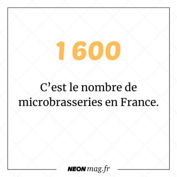 Il y a 1 600 microbrasseries en France.