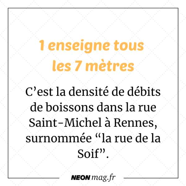 """Dans la """"rue de la Soif"""", à Rennes, il y a un débit de boisson tous les sept mètres."""