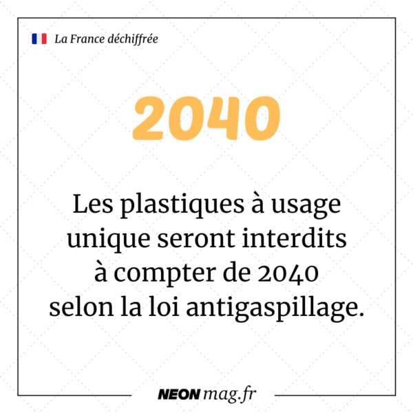 Les plastiques à usage unique seront interdits à compter de 2040 selon la loi antigaspillage