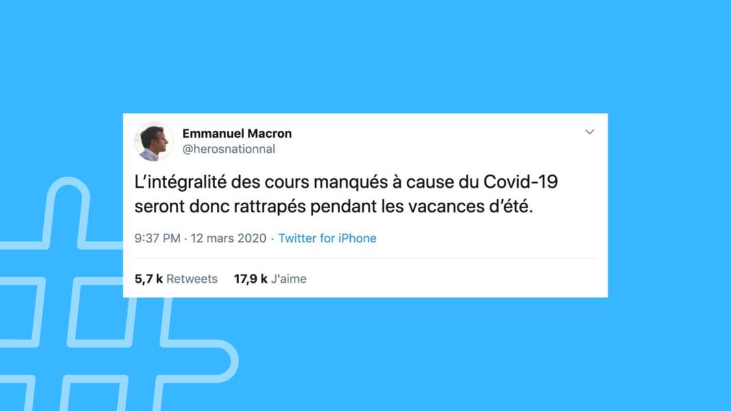 Macron annonce le rattrapage des cours pendant les vacances d'été