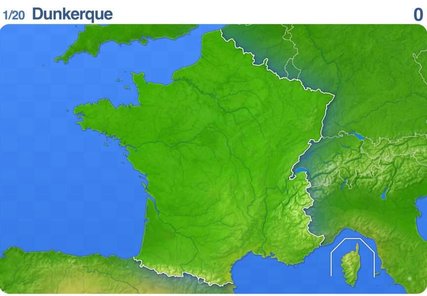 Placez les villes de France sur une carte