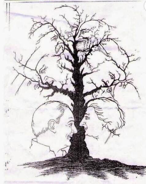 Combien y a-t-il de visages sur ce dessin ?