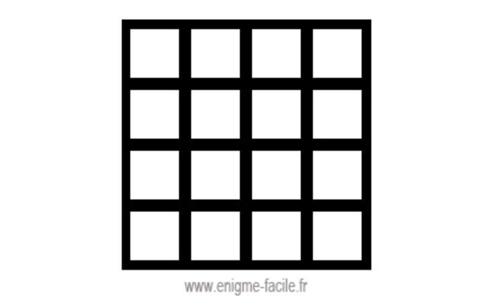 Combien y a-t-il de carrés dans cette photo ?