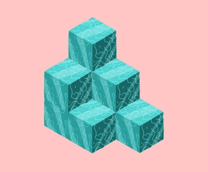 Combien y a-t-il de cubes ?