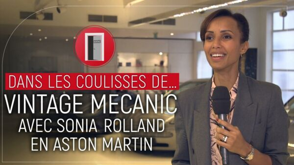 dans les coulisses de vintage mecanic avec sonia rolland en aston martin programme tv. Black Bedroom Furniture Sets. Home Design Ideas