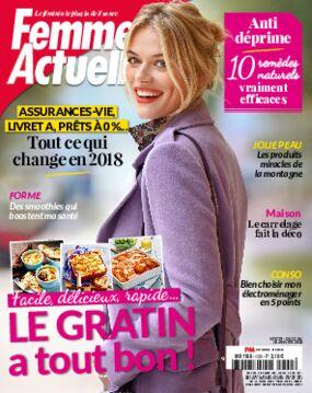Achat femme actuelle n 1750 9 avr 2018 version num rique prismashop - Prismashop cuisine actuelle ...