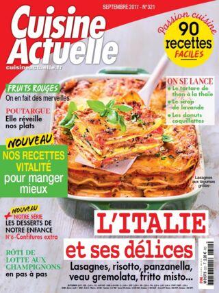 Vente au num ro papier cuisine actuelle f minins for Abonnement cuisine actuelle