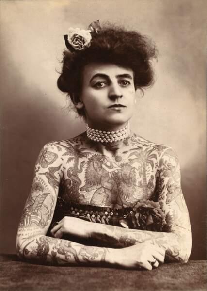 Maud Stevens Wagner, la première tatoueuse