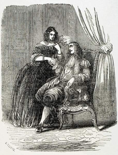 Madame de Montespan, giflée devant la cour de Versailles