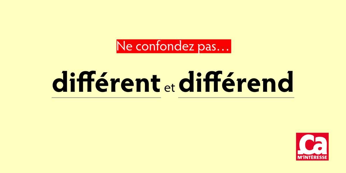 Différend et différent