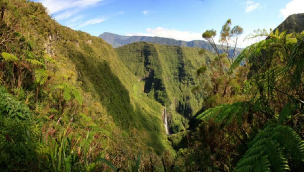 La cascade du Trou de fer (La Réunion)