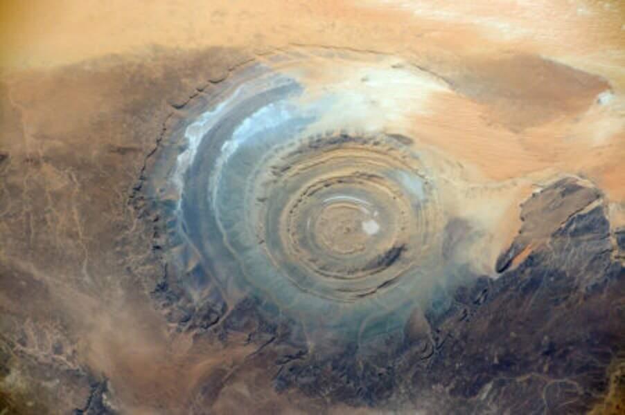 La structure de Richat, vestige d'un volcan