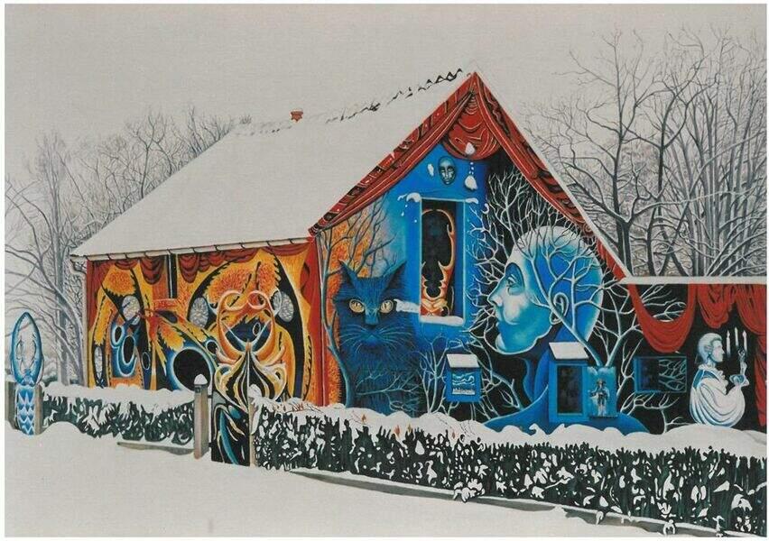 La Maison couleur du temps, hommage aux saisons et à la nature
