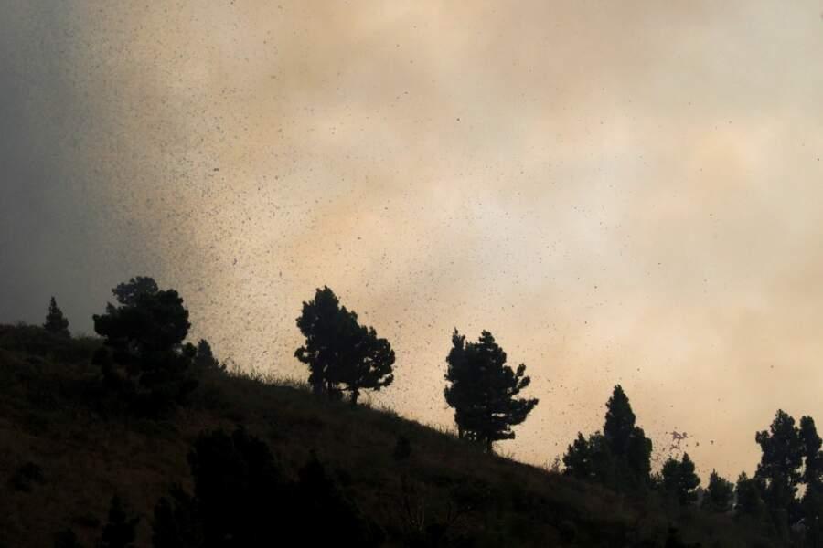 Des milliers de légers tremblements de terre ont annoncé l'éruption.
