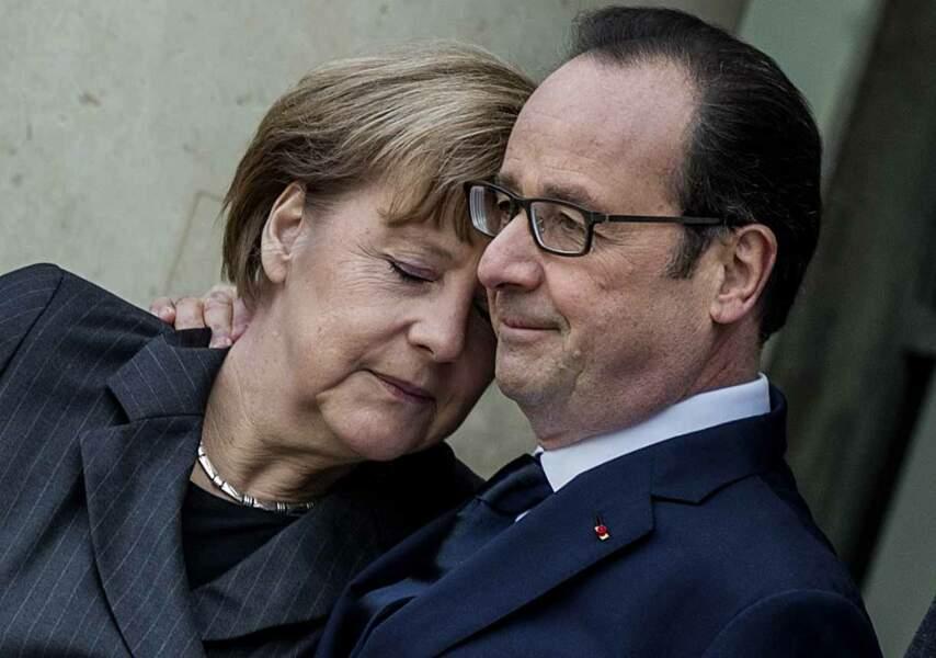 Merkel et Hollande face au terrorisme