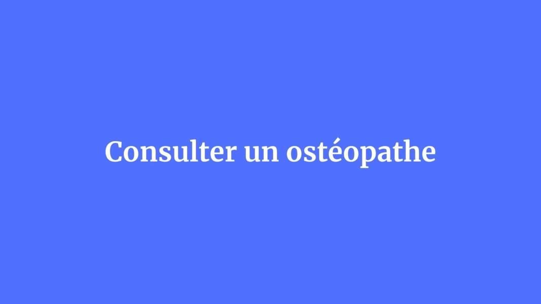 Consulter un ostéopathe