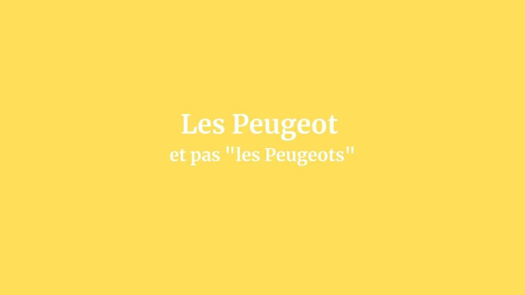 Les Peugeot