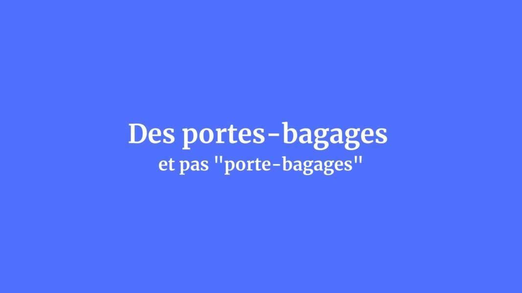 Des portes-bagages