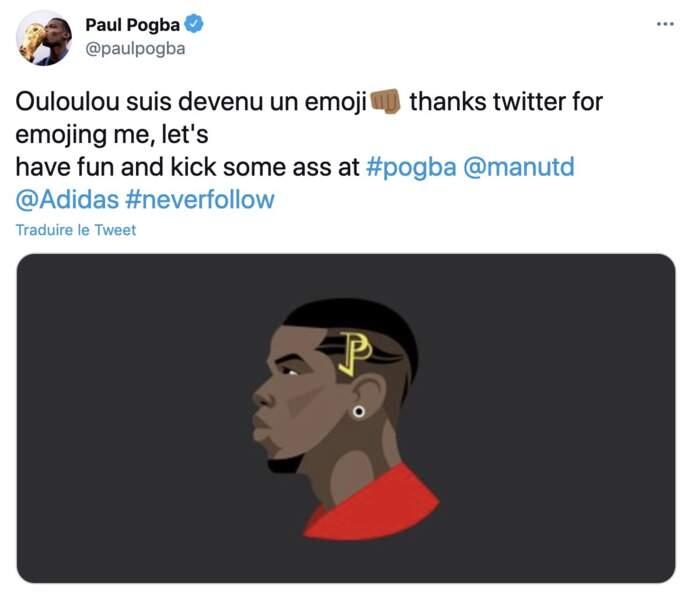 Paul Pogba est le premier joueur de foot à avoir eu son emoji sur Twitter