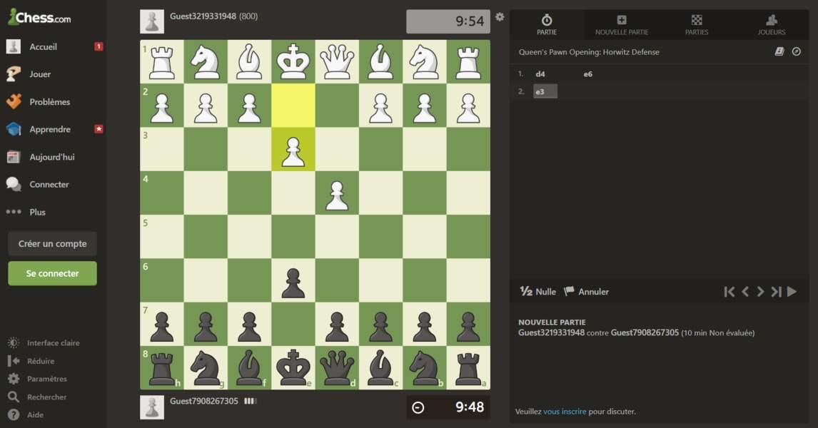 Avec Chess, jouez aux échecs en ligne