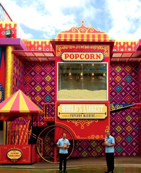La plus grande machine à pop-corn