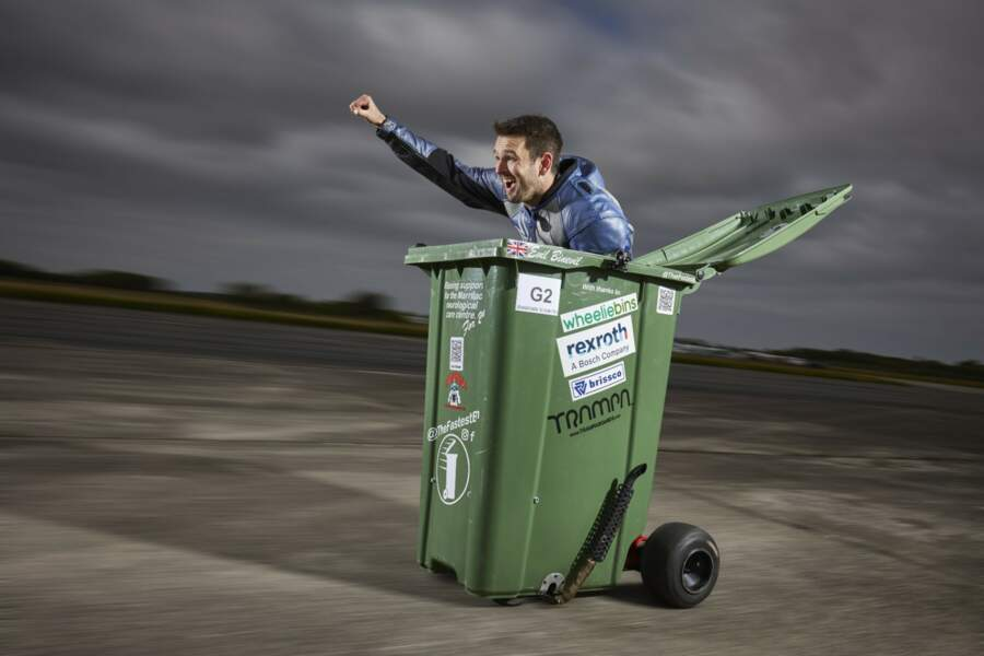 La poubelle à roulettes la plus rapide