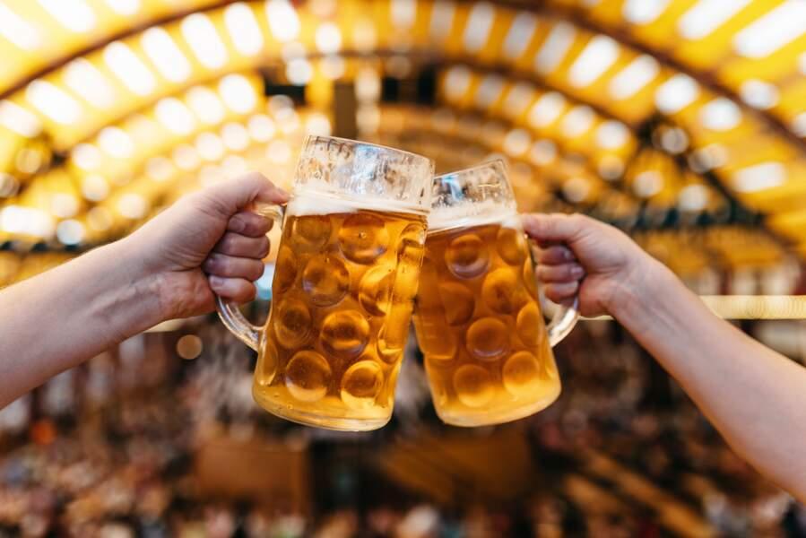 La pinte de bière, très célèbre dans le Nord de la France