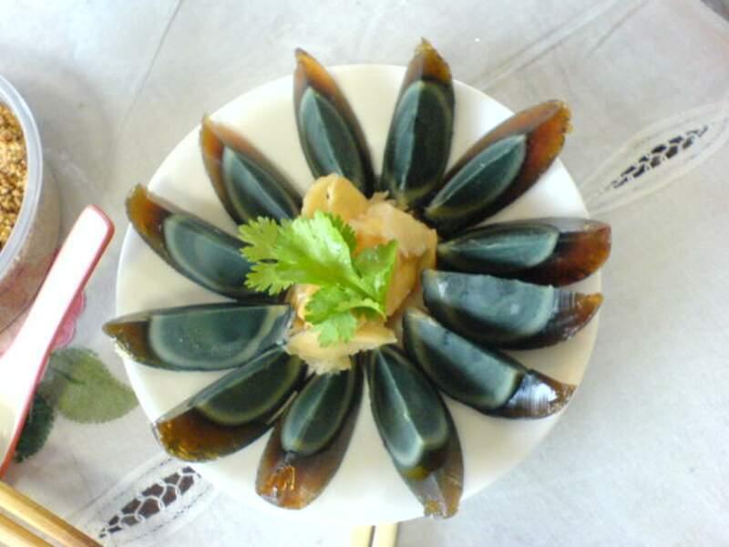 Les œufs de 100 ans, Chine