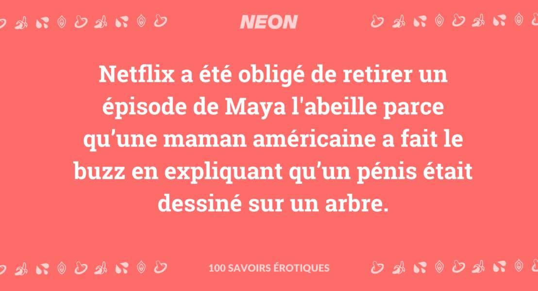 Netflix a été obligé de retirer un épisode de Maya l'abeille parce qu'une maman américaine a fait le buzz en expliquant qu'un pénis était dessiné sur un arbre.