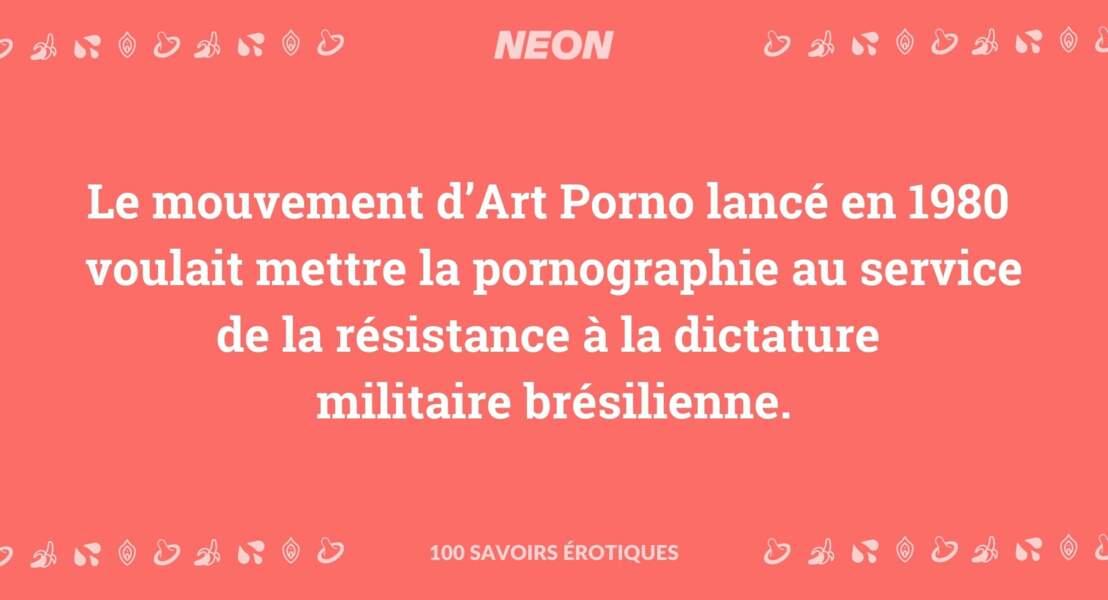 Le mouvement d'Art Porno lancé en 1980 voulait mettre la pornographie au service de la résistance à la dictature militaire brésilienne.