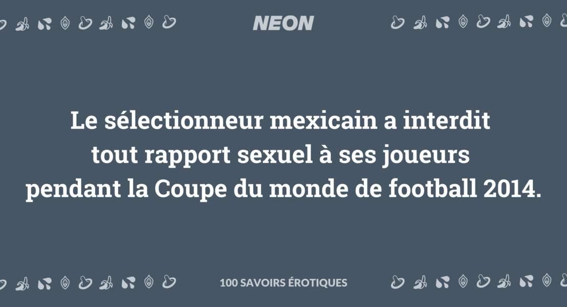Le sélectionneur mexicain a interdit tout rapport sexuel à ses joueurs pendant la Coupe du monde de football 2014.