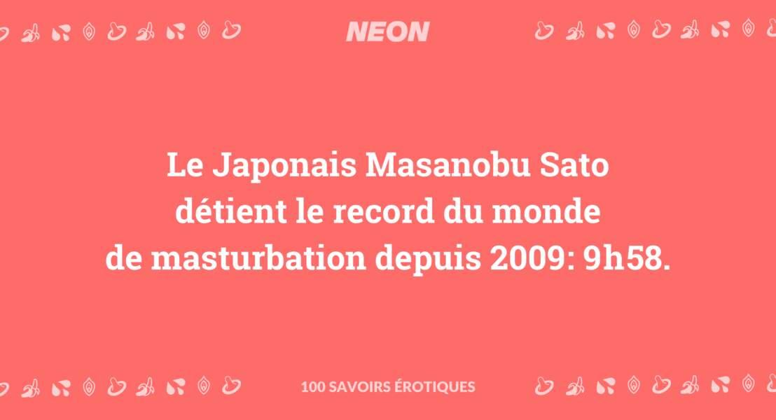 Le Japonais Masanobu Sato détient le record du monde de masturbation depuis 2009: 9h58.