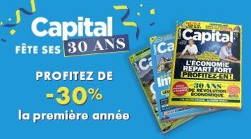 Offre anniversaire Capital : abonnez-vous à -30% !