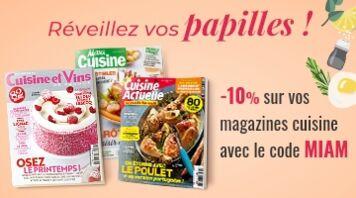 Offre Semaine du goût : profitez de - 10 % sur vos magazines cuisine préférés