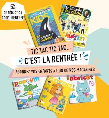 Profitez de notre sélection de magazine pour les enfants !