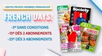 Vente privée French Days ! Jusqu'à -25€ sur vos abonnements