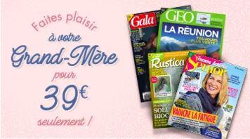 Pour la fête des grand-mères offrez un abonnement à 39€ seulement.