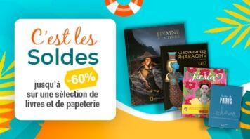 Soldes : à partir de 7€15 sur une sélection inédite de livres, jeux et papeteries !