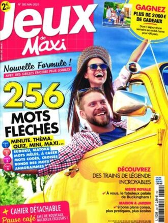 9776016742d Abonnement magazine Jeux de Maxi pas cher - Prismashop
