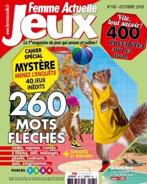 Achat Femme Actuelle Jeux n° 165 7 sept. 2018 version papier - Prismashop